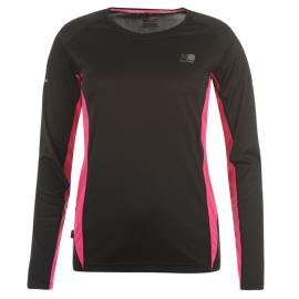 Karrimor Long Sleeve Running T Shirt Ladies Black/Pink