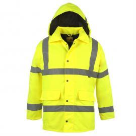 Bunda Dunlop Hi Vis Parka Mens Yellow