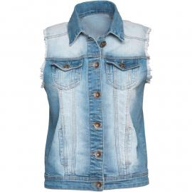Vesta Fluid Womens Denim Gilet Denim