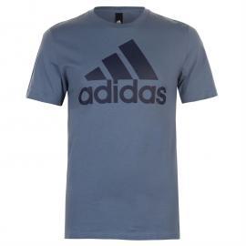 Tričko adidas Linear Logo T Shirt Mens Wht/BlueBeauty