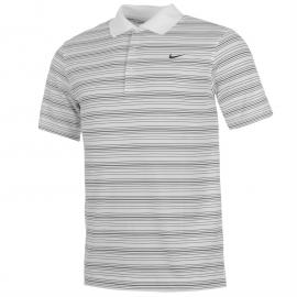 Nike Stripe Polo Top Mens White