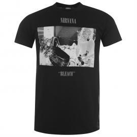 Tričko Official Nirvana T Shirt Bleach