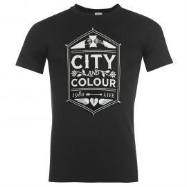 Tričko Official City and Colour TShirt Black Crest