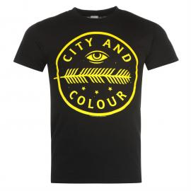 Official City and Colour TShirt Black Crest