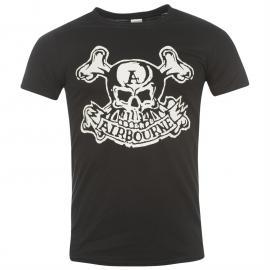Tričko Official Airbourne T Shirt Mens Jolly Roger