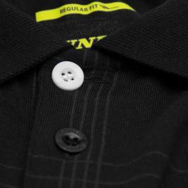 Dunlop Check Golf Polo Shirt Mens Blue