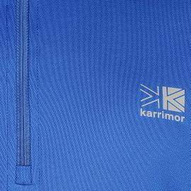 Tričko Karrimor Quarter Zip Running Top Mens Dk Blue/Blue