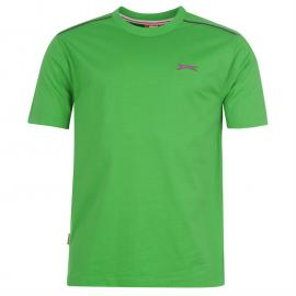 Tričko Slazenger Plain T Shirt Mens Green