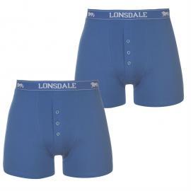 Spodní prádlo Lonsdale 2 Pack Boxers Mens Navy/Fl Orange