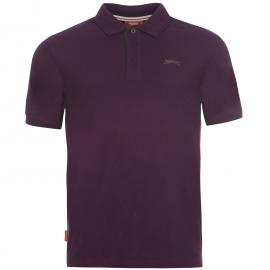 Slazenger Plain Polo Shirt Mens Dark Purple