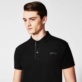 Slazenger Plain Polo Shirt Mens Dark Purple