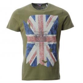 Tričko Pepe Jeans Hughes T Shirt Snr52 Olive