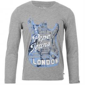 Tričko Pepe Jeans T Shirt Leo Jnr44 913 Grey