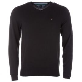 Tommy Hilfiger Mens V Neck Jumper Black