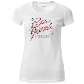 Pepe Jeans Adas T Shirt Lds52 Hibiscus