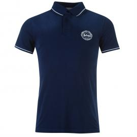 Lee Cooper Wash Badge Polo Shirt Mens Blue