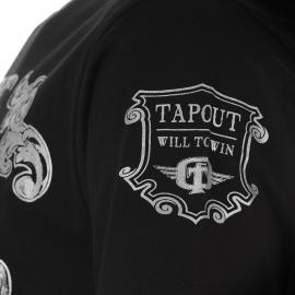 Tričko Tapout Foil Print T Shirt Mens Black