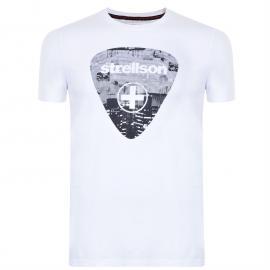 Tričko SWISS CROSS BY STRELLSON Logo T Shirt White