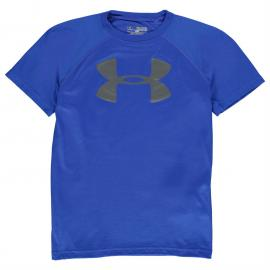 Tričko Under Armour Big Logo Solid T Shirt Junior Boys Blue