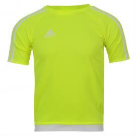 Tričko adidas 3 Stripe Estro T Shirt Junior Boys Solar Orange