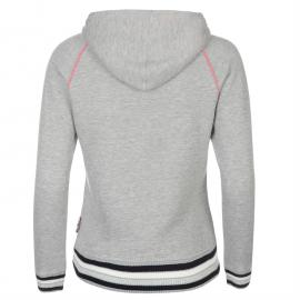 Mikina s kapucí Lee Cooper Glitzy OTH Sweater Ladies Grey Marl