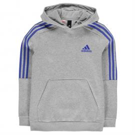 Mikina adidas 3S Logo OTH Hoodie Junior MedGrey/Blue
