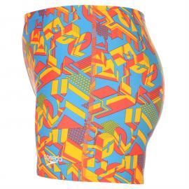 Plavky Speedo Clash Aqua Shorts Junior Boys Blue/Red