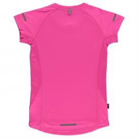 Karrimor Short Sleeved Running Top Girls Bright Pink