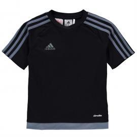 Tričko adidas 3 Stripe Estro T Shirt Junior Boys Solar Yellow