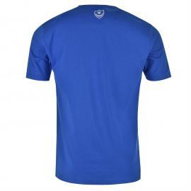 Tričko Team Portsmouth Large Crest T Shirt Infant Boys Grey Marl/Pink