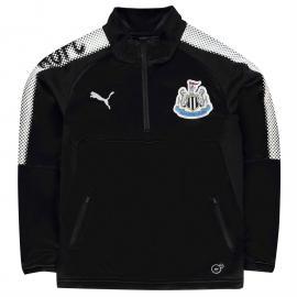 Tričko Puma Newcastle United Quarter Zip Training Top Junior Black/White