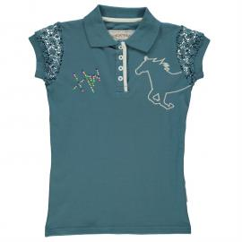 Horseware Novelty T Shirt Infant Girls Brittany Blue