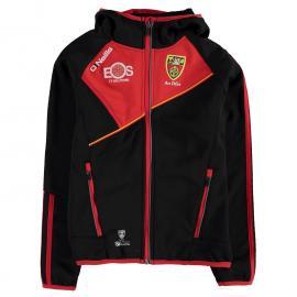Mikina ONeills Down GAA Conall Two Stripe Full Zip Embossed Hooded Jacket Junior Boys Black/Red/Wht