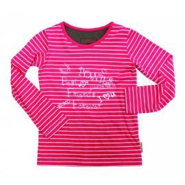 Horseware Girls Long Sleeve Top Pink Stripe