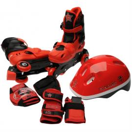 Cosmic Skate and Protection Pack Junior Red/Black