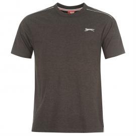 Tričko Slazenger Plain T Shirt Mens Charcoal Marl
