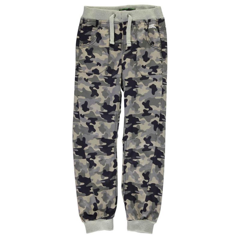 Kalhoty No Fear Camouflage Jog Jeans Junior Boys Grey Camo