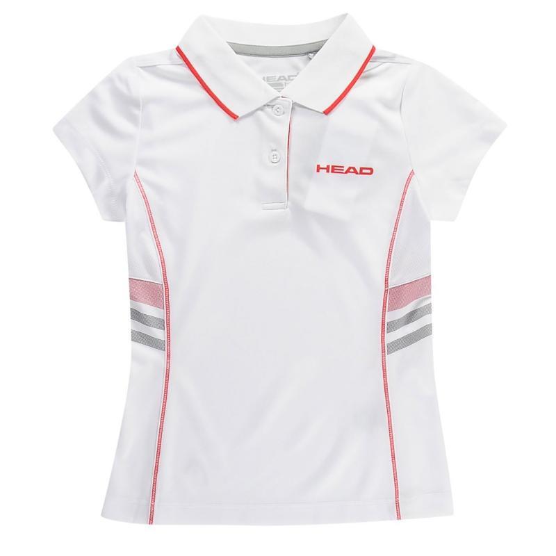 Tričko HEAD Club G Polo Shirt Junior White/Red