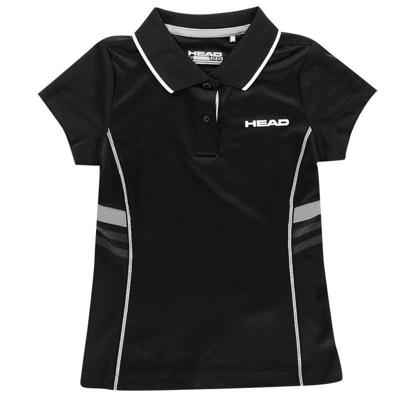 Tričko HEAD Club G Polo Shirt Junior Black