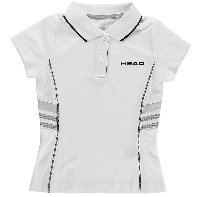 Tričko HEAD Club G Polo Shirt Junior White/Black