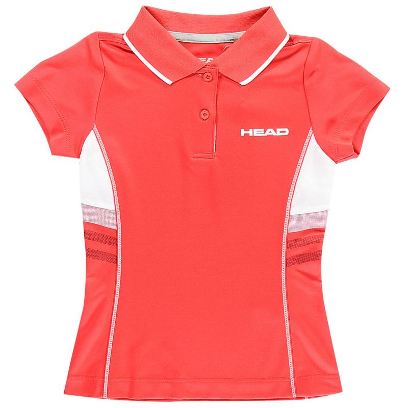 Tričko HEAD Club G Polo Shirt Junior Red