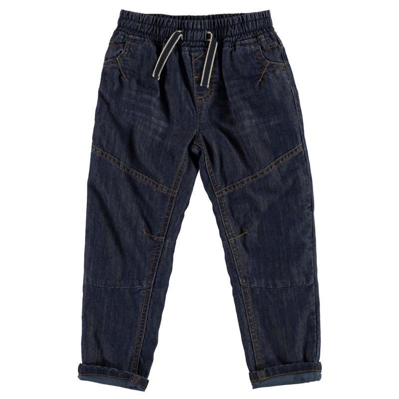 Kalhoty Crafted Pull on Denim Jeans Blue Denim
