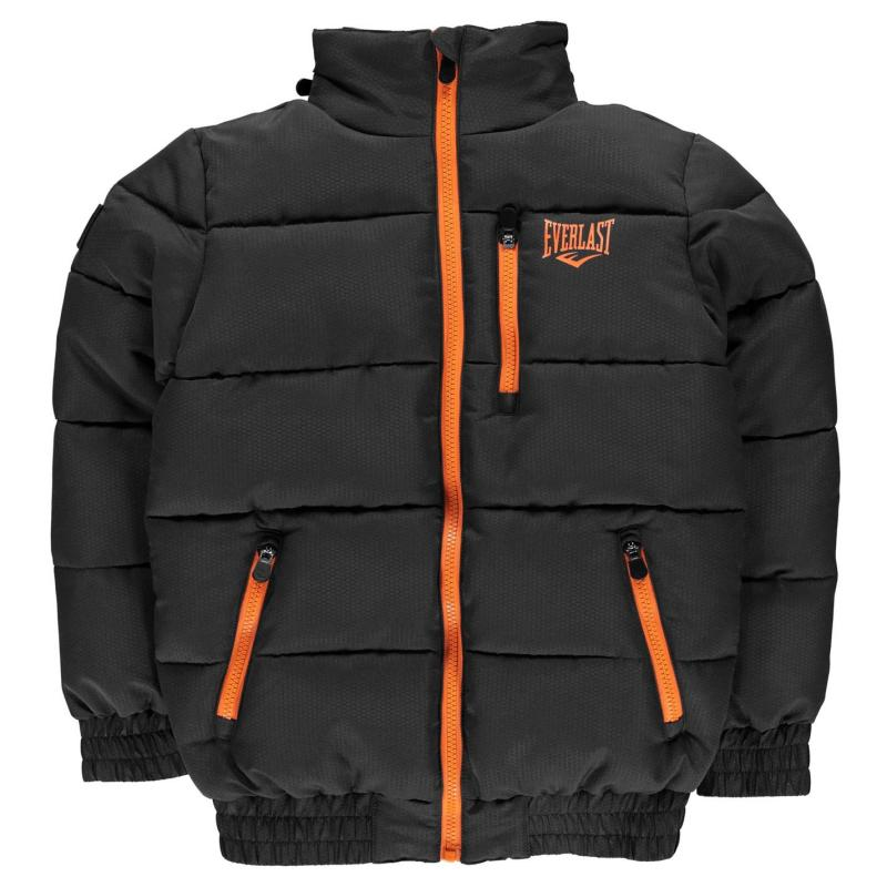 Bunda Everlast Bubble Jacket Junior Boys Charcoal