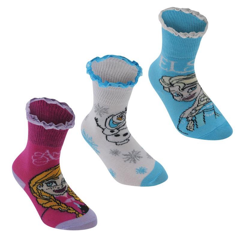Disney 3 pack Crew Sock Girls Frozen