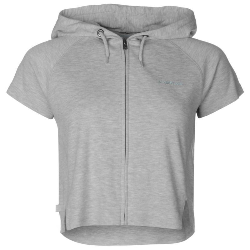 Svetr LA Gear Interlock Cap Sleeve Zip Top Womens Grey Marl