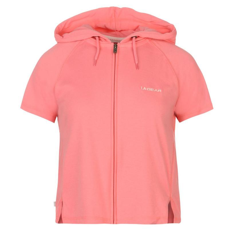 Svetr LA Gear Interlock Cap Sleeve Zip Top Womens Pink