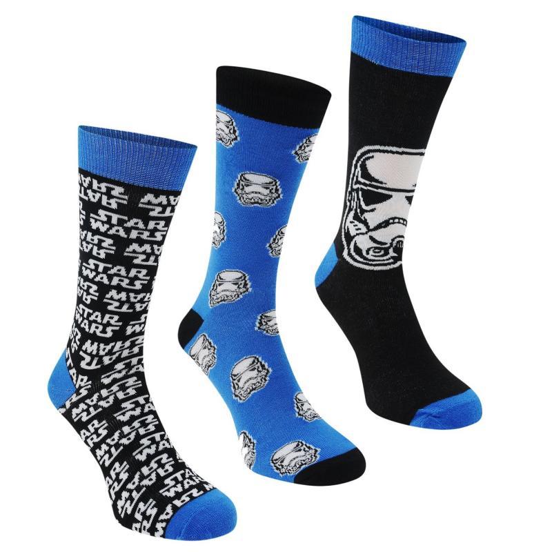 Ponožky Star Wars 3 Pack Crew Socks Boys Star Wars