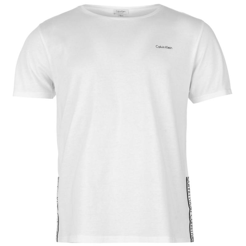 Tričko Calvin Klein Taped Crew TShirt Mens White