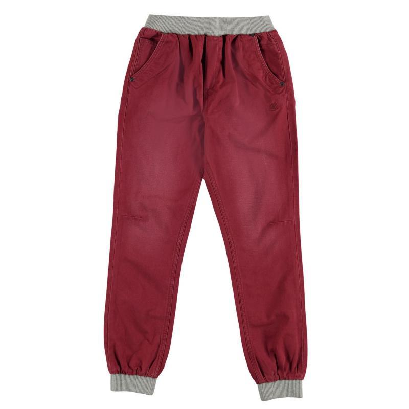 Kalhoty SoulCal Ribbed Waist Chino Junior Boys Burgundy