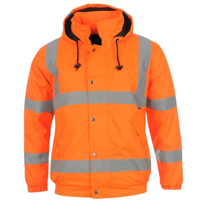 Bunda Dunlop Hi Vis Bomber Jacket Mens Orange